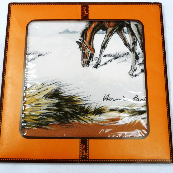 Original Packaging for Les Poulains HERMES Silk Carre